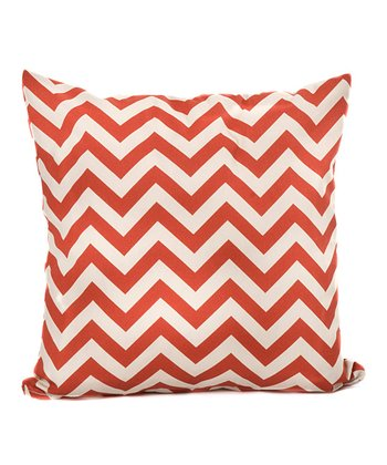Orange Zigzag Throw Pillow