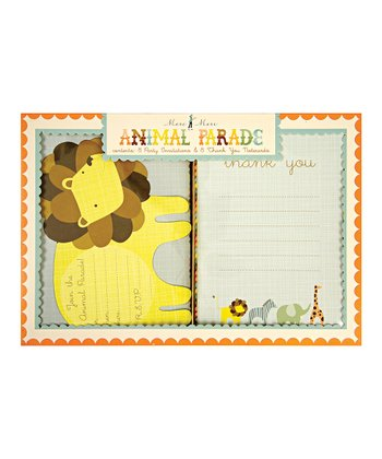 Animal Parade Invitation & Thank You Card Set