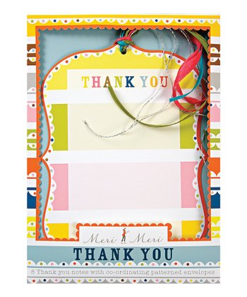 Patterned Party Thank You Card Set