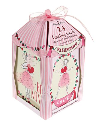 Pink Fairies Valentine Card Set