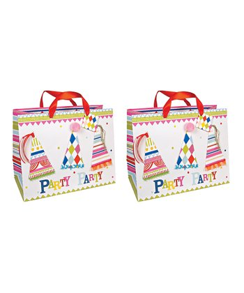 Happy Birthday Large Gift Tote - Set of Two
