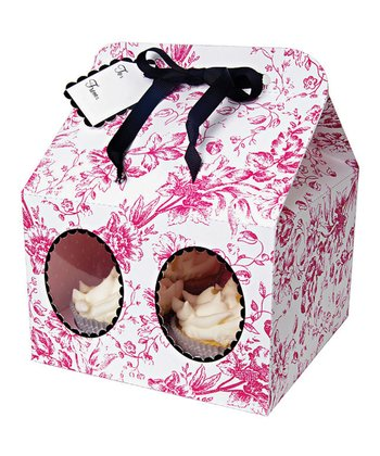 Toile Large Cupcake Box - Set of Three