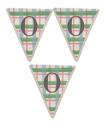 Green & Red Pattern 'O' Bunting - Set of Three