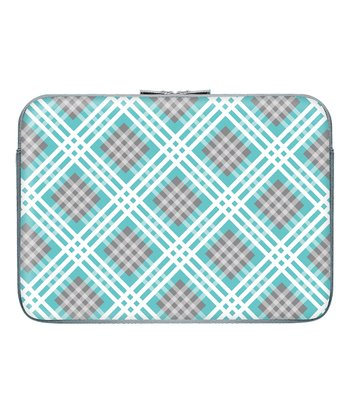 Confetti Plaid 15.6'' Zippered Laptop Sleeve