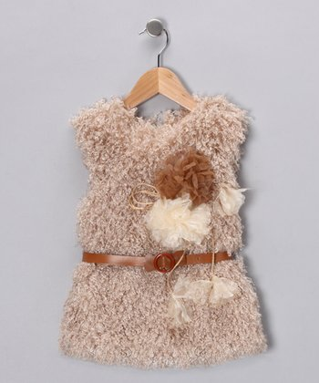 Tan Cheetah Vest - Toddler & Girls