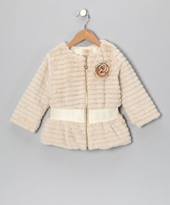 Mia Belle Baby Crème Faux Fur Jacket - Toddler & Girls