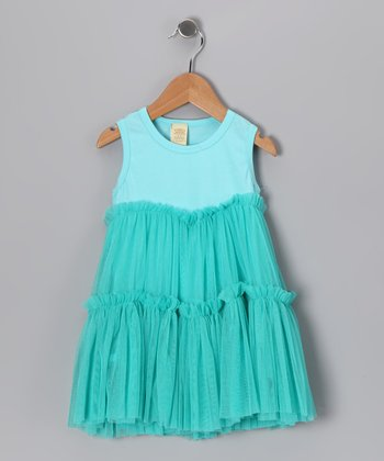 Mint Tulle Dress - Infant & Toddler