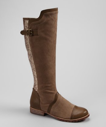 Sand Bardot Riding Boot