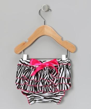 Zebra Ruffle Diaper Cover