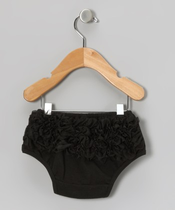 Black Ruffle Diaper Cover