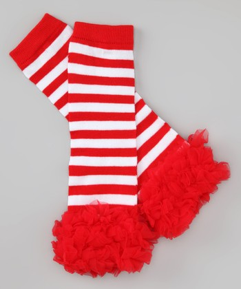 Red Stripe Leg Warmers