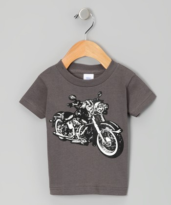 Charcoal Micro Moto Tee - Infant, Toddler & Boys