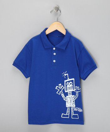 Royal Roboto Polo - Toddler & Boys