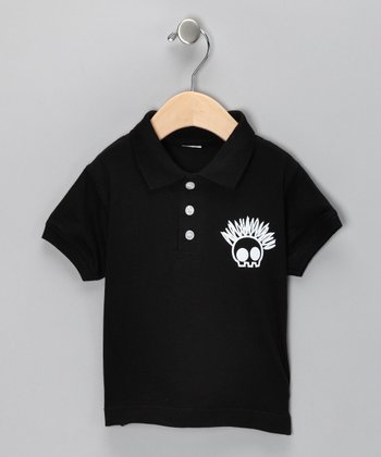Black 'Proud to Be' Polo - Toddler & Boys