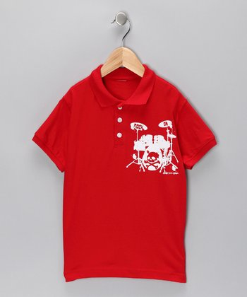 Red Drum Kit Polo - Toddler & Boys
