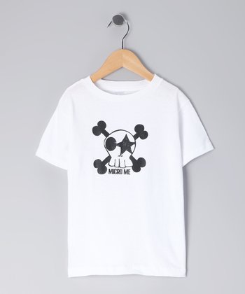 White Kiss Skull Tee - Infant, Toddler & Kids