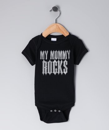 Black 'My Mommy Rocks' Bodysuit - Infant
