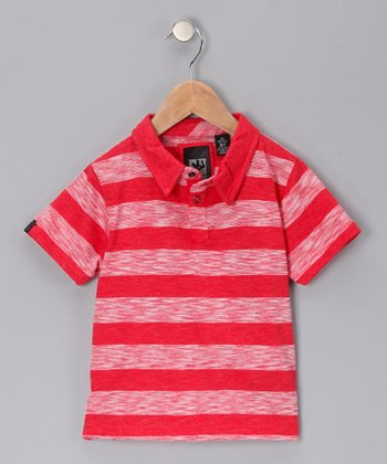 Heather Red Slumpbuster Polo - Toddler & Boys