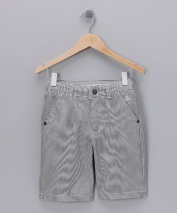 Off-White Pinstripe Cooper Shorts - Boys
