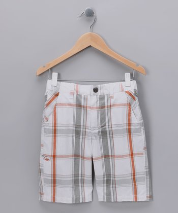 White North Hollywood Plaid Shorts - Boys