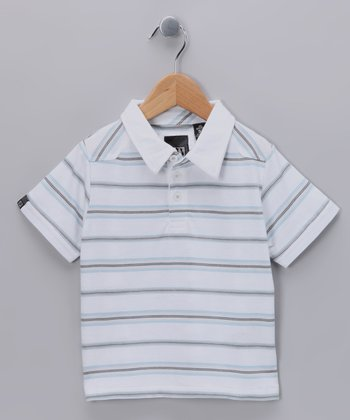 White Team Work Polo - Toddler