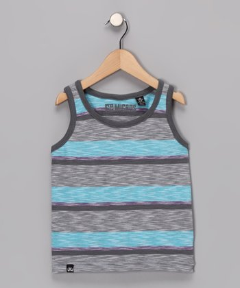 Dark Gray Cable Tank - Toddler