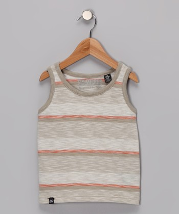 Dark Stone Cable Tank - Toddler & Boys