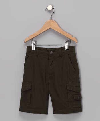 Olive Reincarnation Cargo Shorts - Toddler & Boys