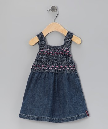 Denim Knit Babydoll Dress - Infant