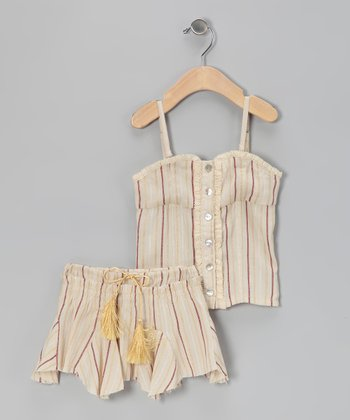 Cream & Brown Top & Skirt - Infant