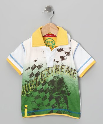 Yellow & Green 'Just Extreme' Polo - Infant, Toddler & Boys
