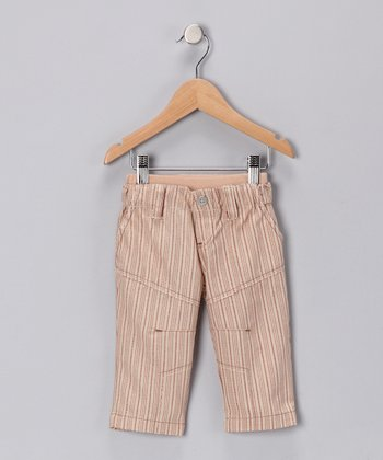 Khaki & Red Stripe Pants - Infant, Toddler & Boys