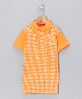 Orange Diamond Polo - Toddler & Boys