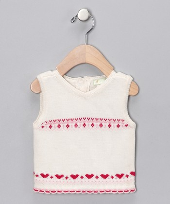 White Heart Sweater Vest - Infant