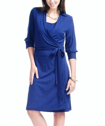 Indigo Heather Nursing Wrap Dress