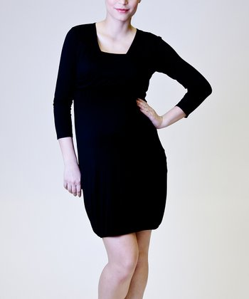 Black Tulip Maternity & Nursing Dress - Women