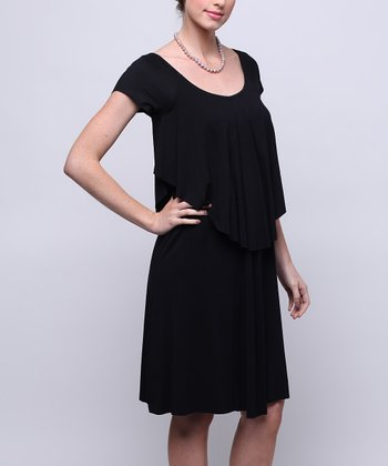 Black The Museum Maternity & Nursing Dress