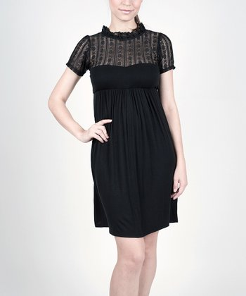 Black Sweet Georgia Maternity & Nursing Dress - Women