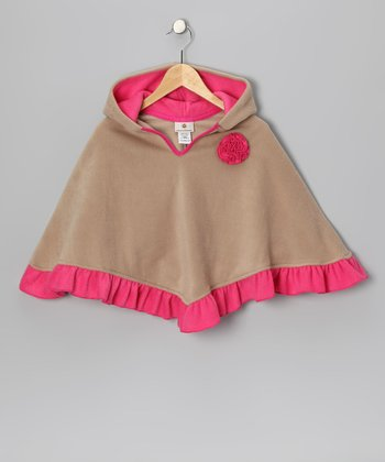 Butterscotch & Pink Poncho - Infant, Toddler & Girls