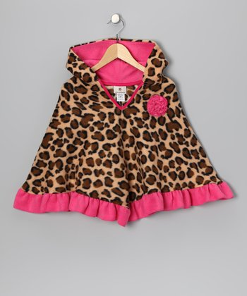 Hot Pink Leopard Poncho - Infant, Toddler & Girls