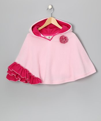 Pink Strawberry Poncho - Infant, Toddler & Girls