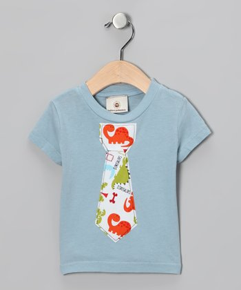 Blue Dinosaur Tie Tee - Infant, Toddler & Boys