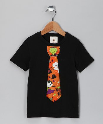 Black & Orange Tie Tee - Infant, Toddler & Boys