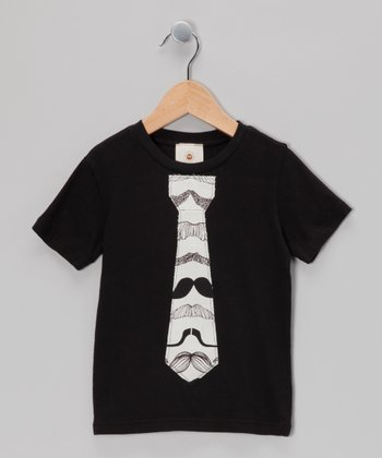 Black Mustache Tie Tee - Infant, Toddler & Boys