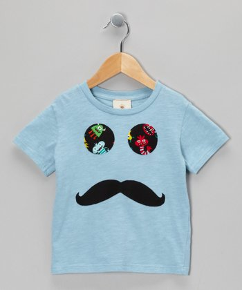 Blue Stache Tee - Infant