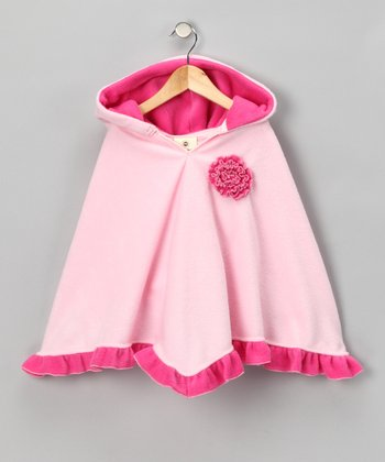 Light Pink & Hot Pink Poncho - Infant, Toddler & Girls