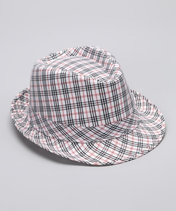 Black & Red Plaid Serena Fedora
