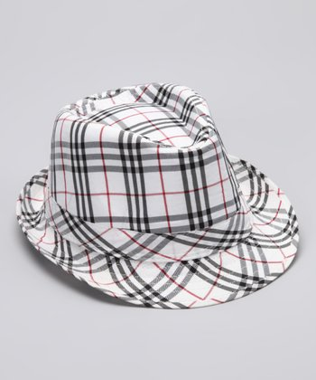 Red & Black Plaid Kyle Fedora
