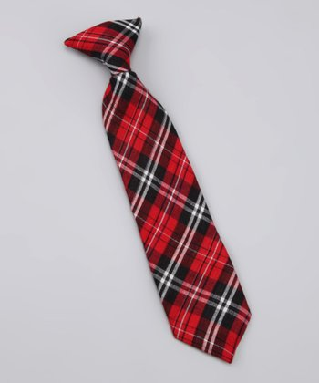 Red & Blue Plaid Joseph Tie