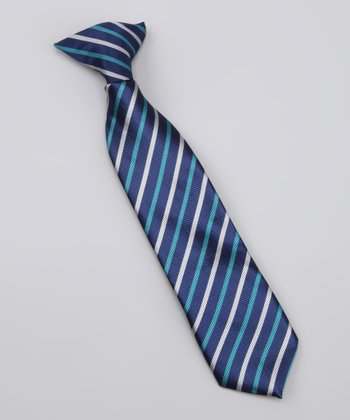 Blue & Gray Stripe Chris Tie